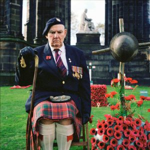 EDINBOURG, SCOTLAND - NOVEMBER 11TH: Thomas is beeing photographed during a WWII veteran rally, November 11th 2006, in Scotland. He fought as a courier in North Africa and later in Burma with the Chindits.